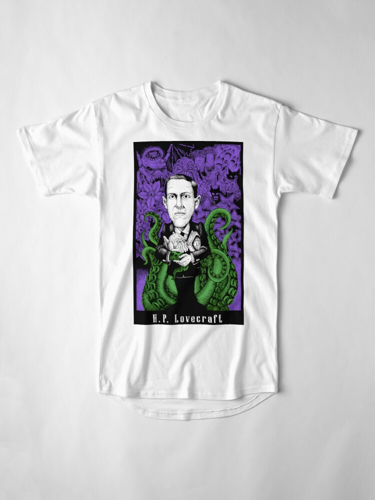 Alternate view of Lovecraft (Color) Long T-Shirt