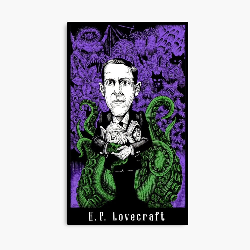 Lovecraft (Color) Canvas Print