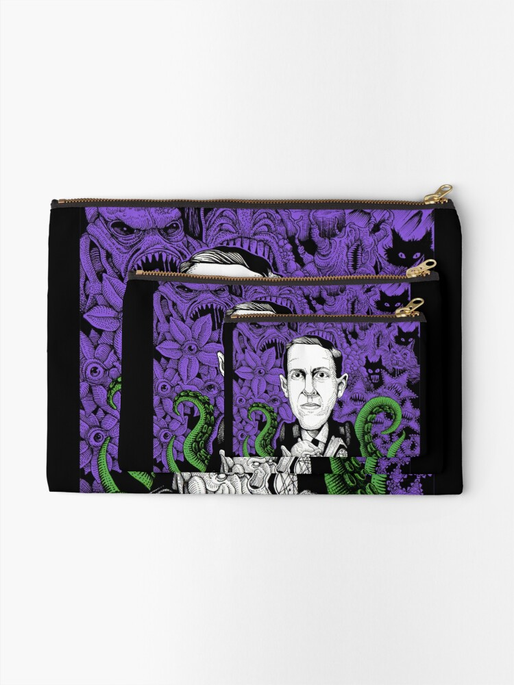 Alternate view of Lovecraft (Color) Zipper Pouch