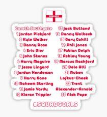 SQUAD GOALS - World Cup England Football 2018 Sticker