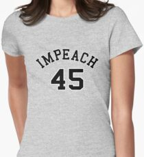 Impeach 45 (black letters) Women's Fitted T-Shirt