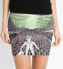 Nightmare surreal pen ink and pencil drawing Mini Skirt