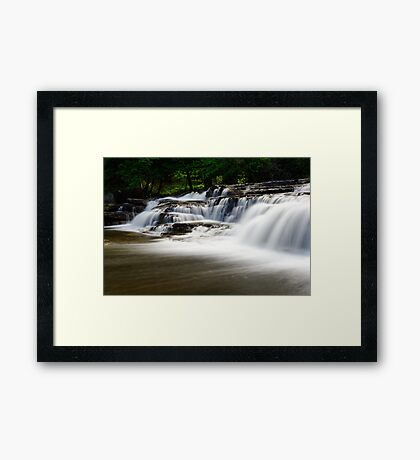 Stair Falls - Side View Framed Print