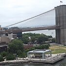 Aerial View, Brooklyn Bridge, Brooklyn Bridge Park, Brooklyn, New York City by lenspiro