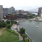Aerial View, Brooklyn Bridge Park, Brooklyn Bridge, Brooklyn, New York City by lenspiro