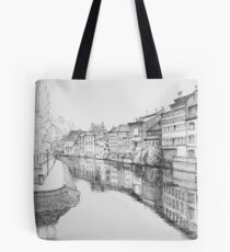 Strasbourg Reflections on River Ill Tote Bag