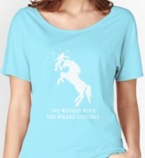 You Messed with the Wrong Unicorn Women's Relaxed Fit T-Shirt