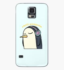 Chill Penguin With Headphone Case/Skin for Samsung Galaxy
