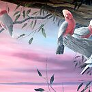 Pink Knights (Original SOLD) by eric shepherd