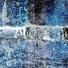 Blue Grunge Abstract II by Kathie Nichols