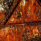 Fire on Metal - Close Up by Daidalos