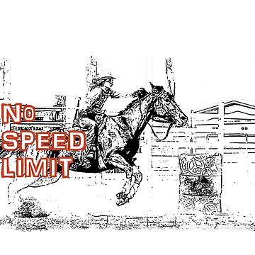 BARREL RACING-NO SPEED LIMIT by Tinpants