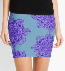 Blue Mural Mandala - Art&Deco By Natasha Mini Skirt
