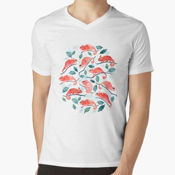 Chameleon garden V-Neck T-Shirt