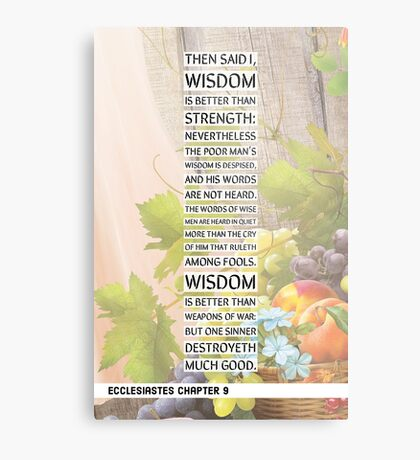 Ecclesiastes chapter 9 Metal Print