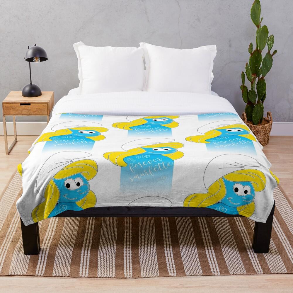 Forever Smurfette  Throw Blanket