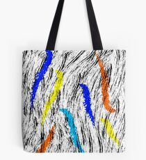 abstract multicolour brushes  Tote Bag