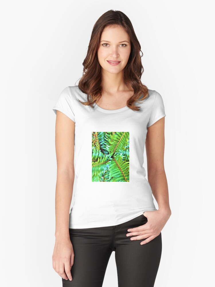 Forest Fern Women's Fitted Scoop T-Shirt Front