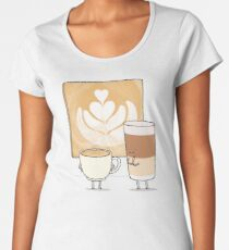 Latte art Women's Premium T-Shirt