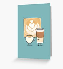 Latte art Carte de vœux