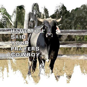 COWBOY-SAY YOUR PRAYERS by Tinpants