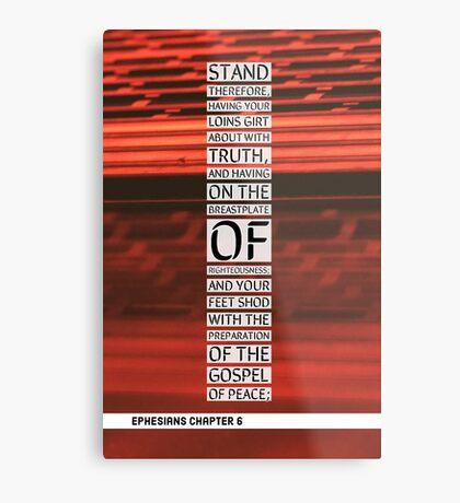 Ephesians chapter 6 Metal Print