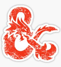 Dungeons & Dragons (Rot) Sticker
