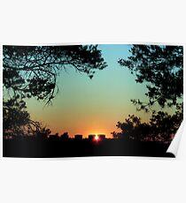 Framed Sunset Poster