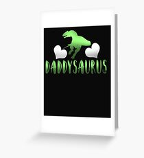 Daddysaurus Father's Day Gift Greeting Card