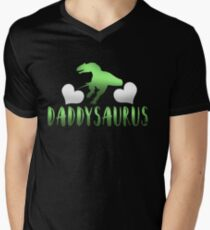 Daddysaurus Father's Day Gift Men's V-Neck T-Shirt