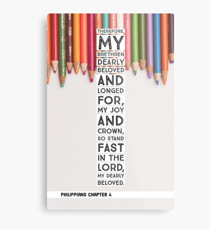 Philippians chapter 4 Metal Print