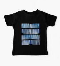 Blue Ripple Abstract Baby Tee