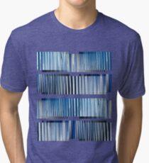 Blue Ripple Abstract Tri-blend T-Shirt
