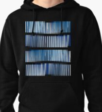Blue Ripple Abstract Pullover Hoodie