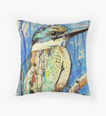 Sacred Kingfisher Throw Pillow