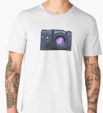 Old fashioned film camera with pink unicorn Men's Premium T-Shirt