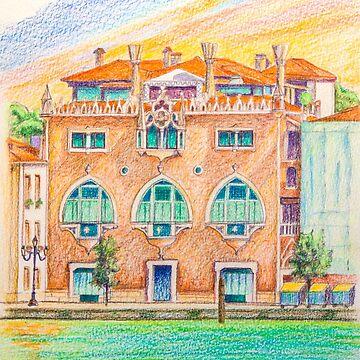Venice neo-gothic palace by terezadelpilar