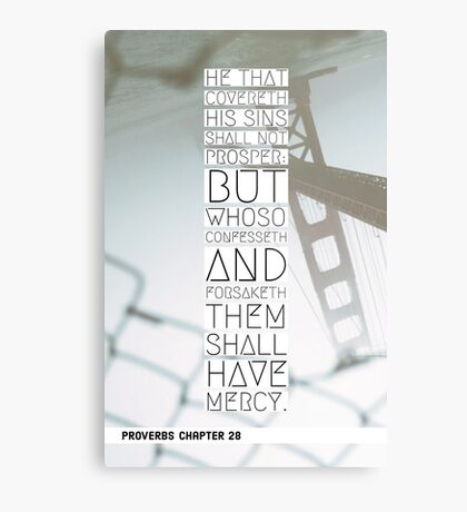 Proverbs chapter 28 Metal Print