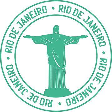 Rio De Janeiro Passport style stamp by litteposterco