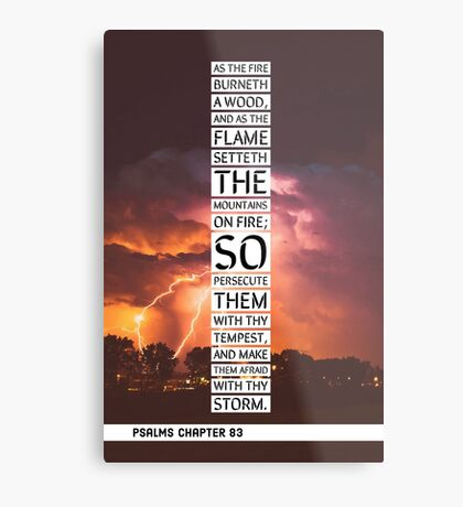 Psalms chapter 83 Metal Print