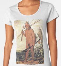 HD Brazilian Indian warrior, by Albert Eckhout (1 of 8) HIGH DEFINITION Women's Premium T-Shirt