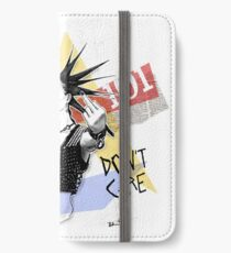 Punk 101: Spiked Hair, Don't Care iPhone Wallet/Case/Skin