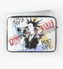 Punk 101: Spiked Hair, Don't Care Laptop Sleeve