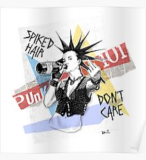 Punk 101: Spiked Hair, Don't Care Poster