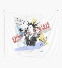 Punk 101: Spiked Hair, Don't Care Wall Tapestry