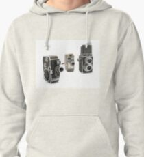 an assortment of old style film cameras        Pullover Hoodie