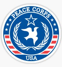 Peace Corps Alternate Retro Logo Sticker