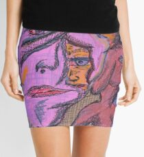 we are all in here Mini Skirt