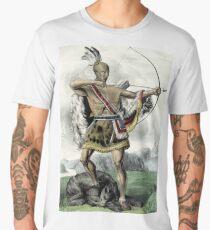 Native American Hunter - 1845 Men's Premium T-Shirt