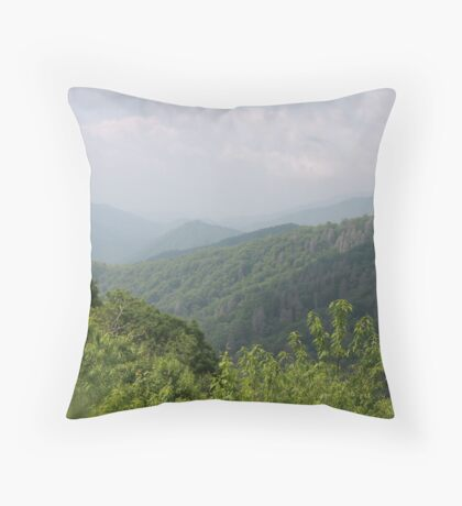 Stepping on the Clouds Throw Pillow